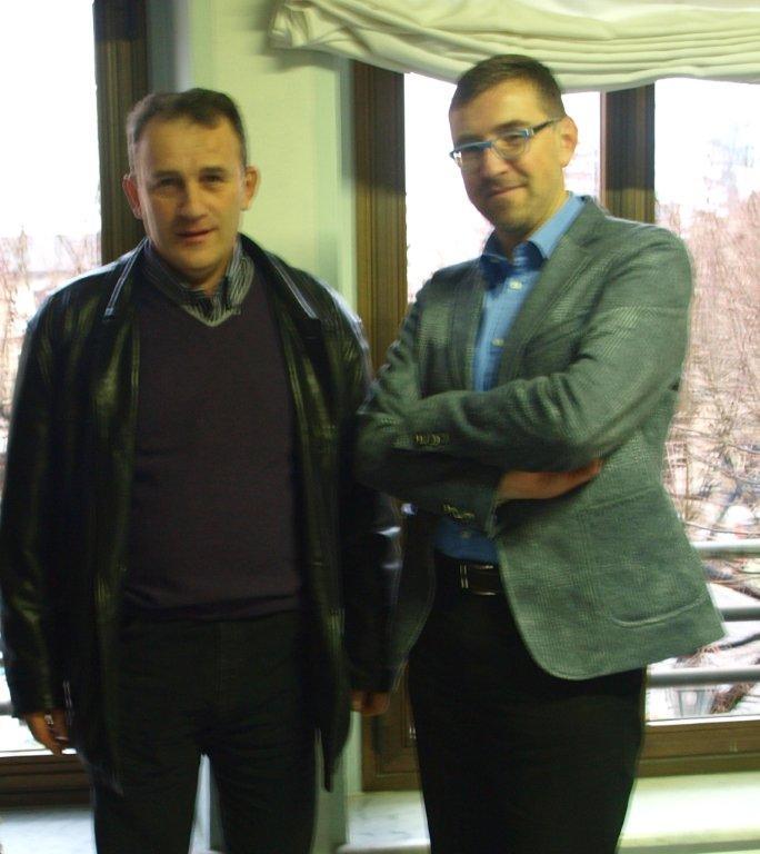 Marco Bellone con il sindaco di Boves Paoletti