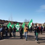 in corteo
